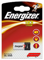 Blister unitaire CR123 - photo lithium - 3V - Energizer