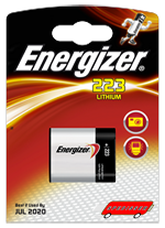 Blister unitaire CR223 - photo lithium - 6V - Energizer