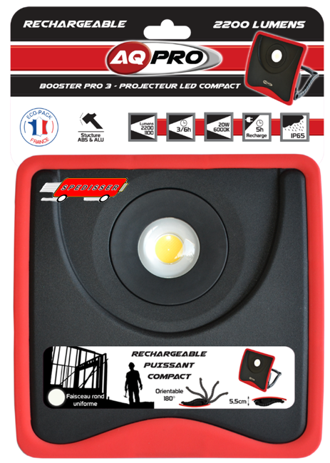 Projecteur 1 LED - 20W - 120° - 2200 / 1100 lumens